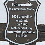 Schild Funkenmühle Kleinmilkau