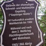 Schild Gepülziger Mühle