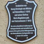 Schild Grabsteine Großmilkau