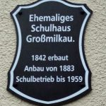 Schild Schule Großmilkau