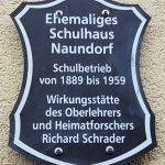 Schild Schule Naundorf